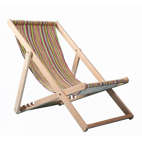 Шезлонг складной деревянный без подлокотников