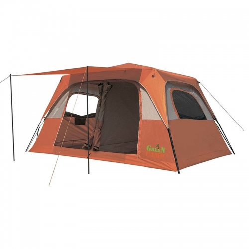 GREEN CAMP 1610 Шестиместная палатка автомат(р-р 390 х 270 х 180/210 см, оранжевый)